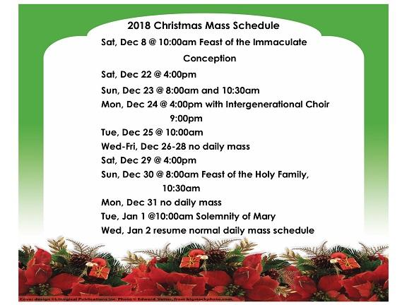 2018 Christmas Mass Schedule_2