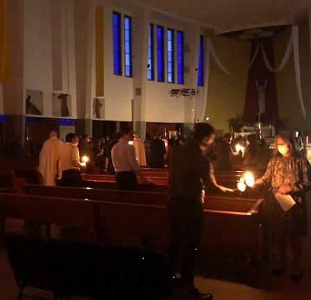 Easter Vigil 2021 Passing the Light