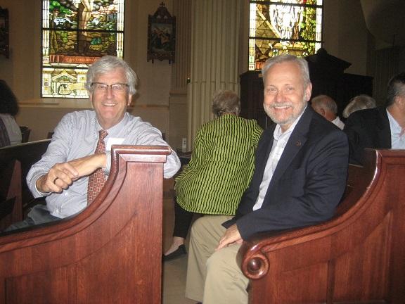 Kaler and Steve in church