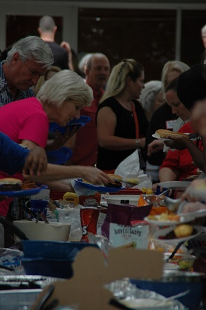 Food line St. Francis Xavier 2017 picnic